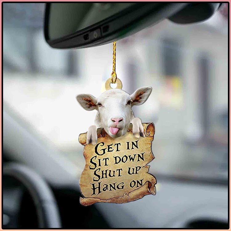 Sheep get in sit down shut up hang out ornament4