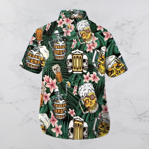 Skull Beer Hawaiian shirt and shorts3