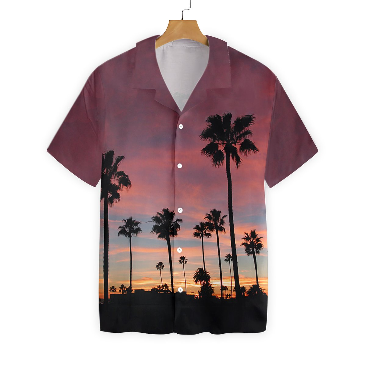 Sunset Venice Beach Hawaiian Shirt1