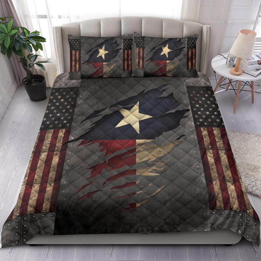 Texas Bedding Set American Flag Comforter Patriotic State Texas Merchandise Gift For Patrotic1