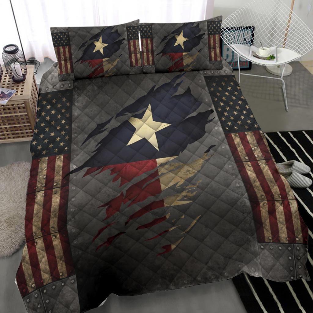 Texas Bedding Set American Flag Comforter Patriotic State Texas Merchandise Gift For Patrotic3