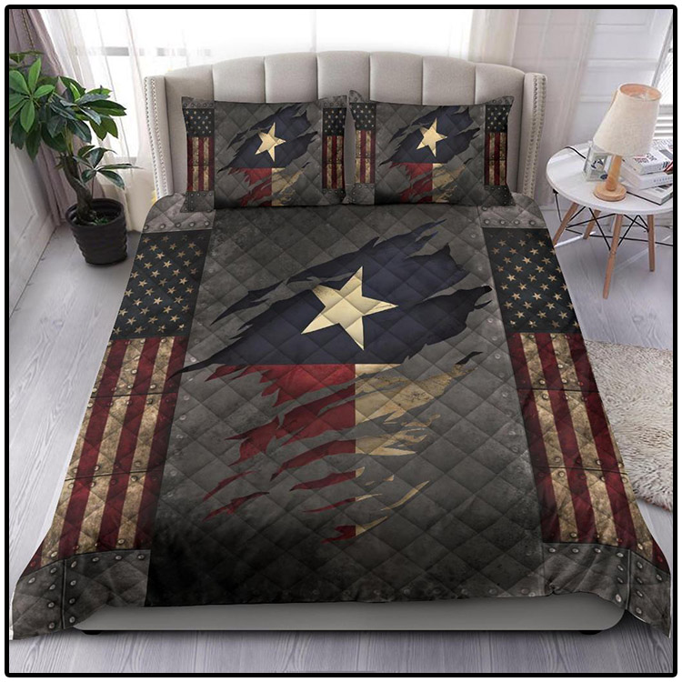 Texas Bedding Set American Flag Comforter Patriotic State Texas Merchandise Gift For Patrotic4