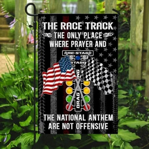 The Race Track The Only Place Where Prayer And The National Anthem Flag4