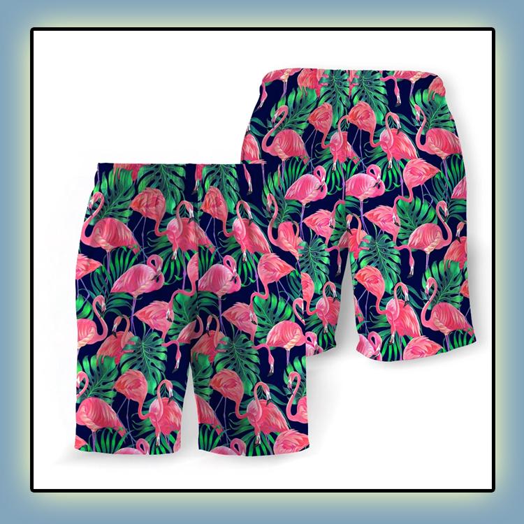 Tropical Flamingo Beach Short