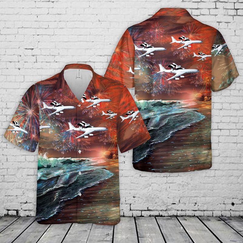 United States Air Force Boeing Sentry Hawaiian Shirt and Short1