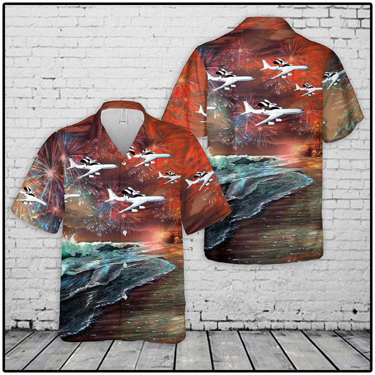 United States Air Force Boeing Sentry Hawaiian Shirt and Short3