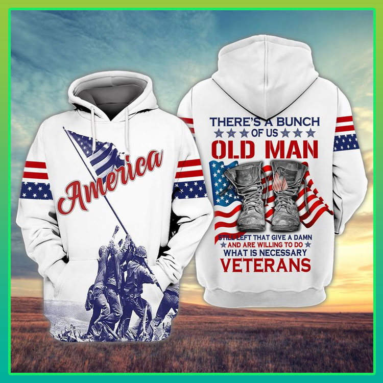 Veteran American flag theres a bunch of us old man 3D hoodie7