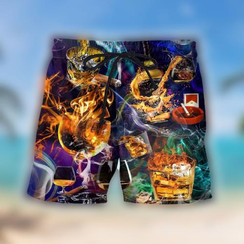 Whisky Hawaiian shirt and shorts2