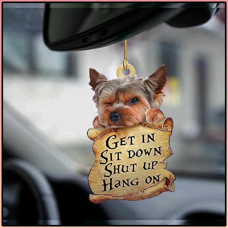 Yorkshire terrier get in sit down shut up hang out ornament4