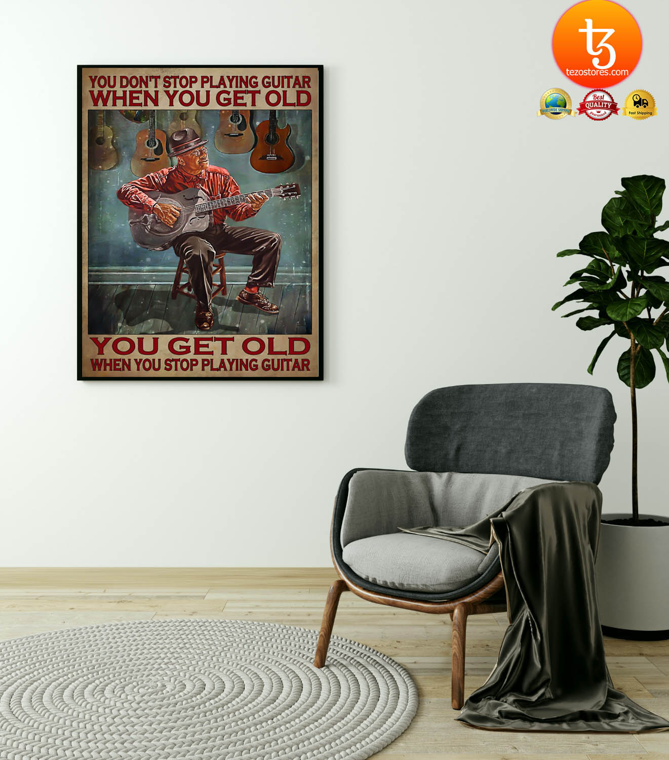 You dont stop playing guitar when you get old poster 21