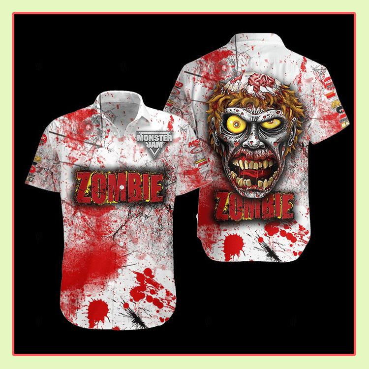 Zombie Monster Truck Hawaiian Shirt2