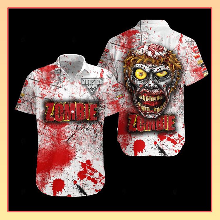 Zombie Monster Truck Hawaiian Shirt3