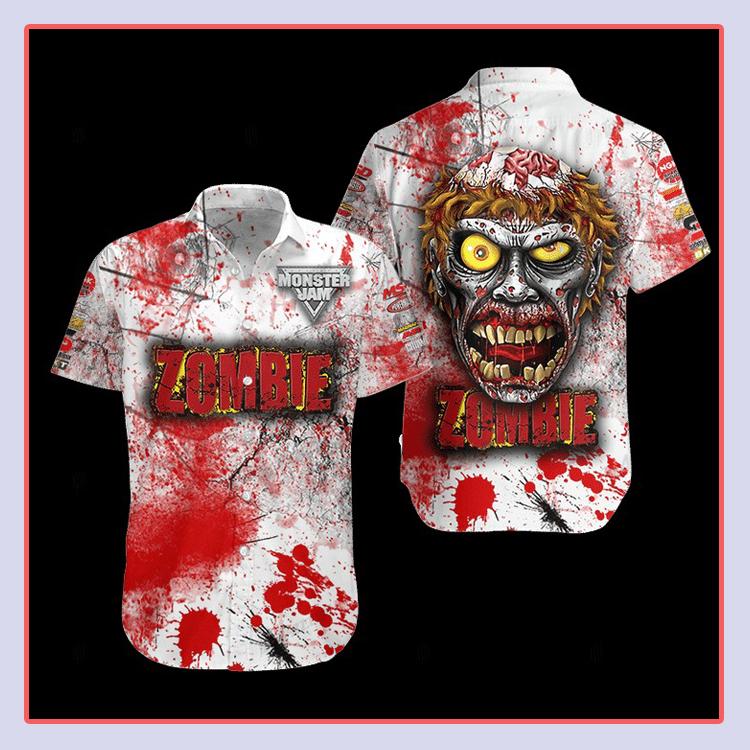Zombie Monster Truck Hawaiian Shirt4