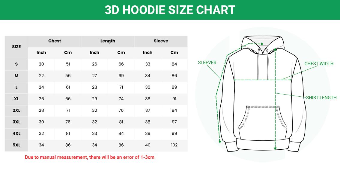 size hoodie 1 1