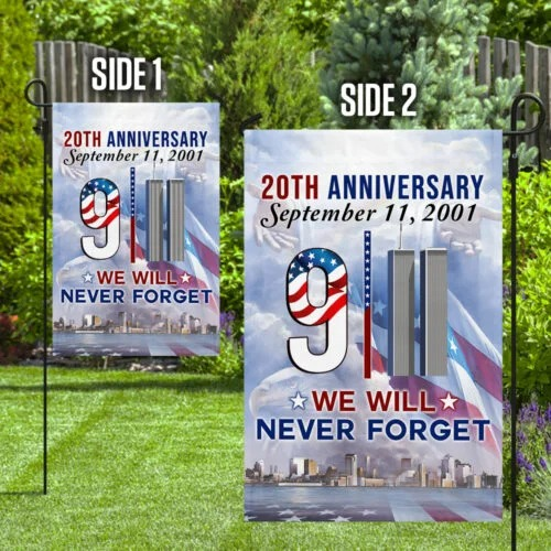 911 Flag We Will Never Forget 20th Anniversary flag 3