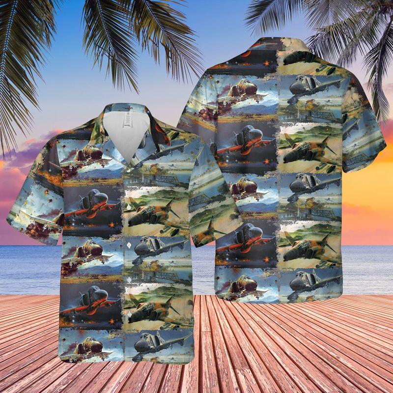 Air Force McDonnell Douglas F 4 Phantom II Hawaiian Shirt And Shorts5