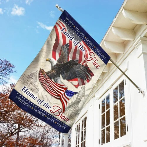 American Land Of The Free Home Of The Brave Flag1