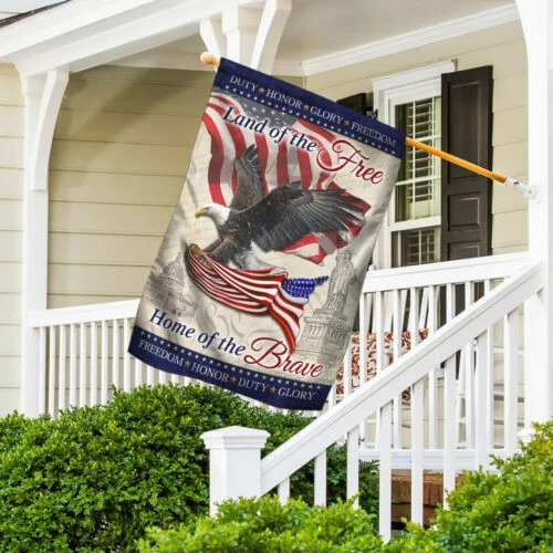 American Land Of The Free Home Of The Brave Flag3