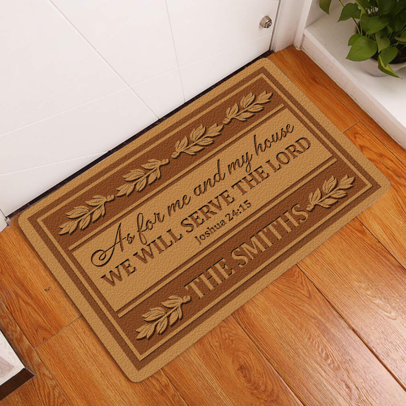 As for me and my house we will serve the Lord custom name doormat 2