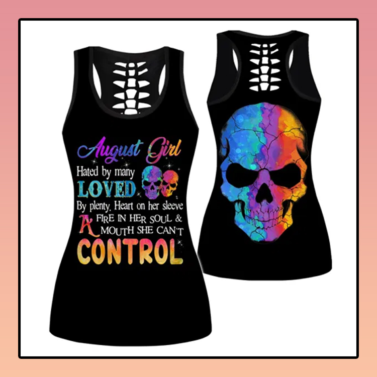 August Girl hate by many loved custom name criss cross strappy tank top3