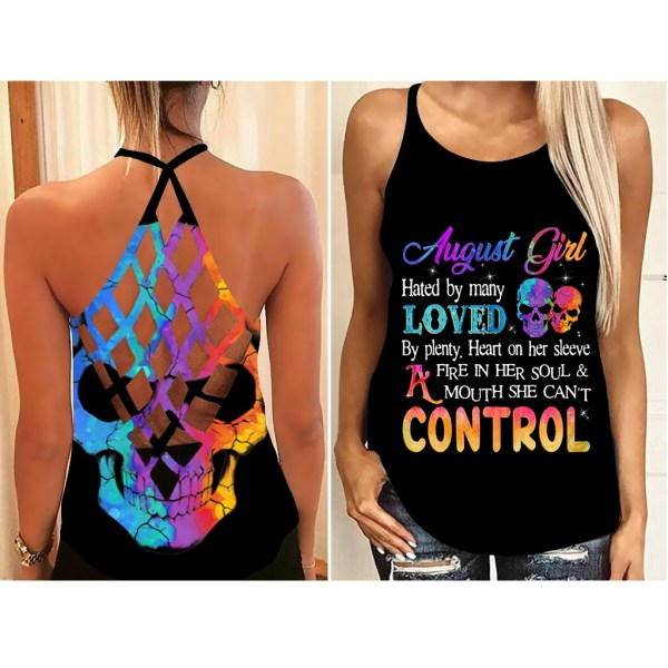 August Girl hate by many loved custom name criss cross strappy tank top4