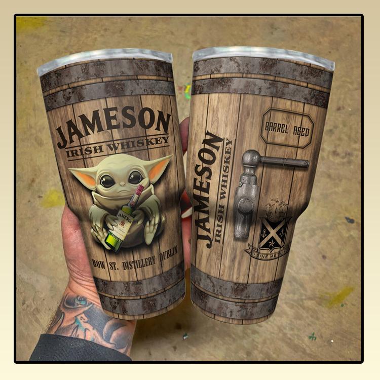 Baby Yoda Jameson Irish Whiskey bow tumbler1