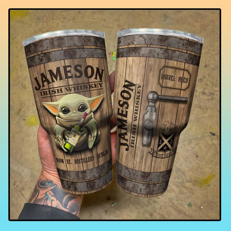 Baby Yoda Jameson Irish Whiskey bow tumbler3