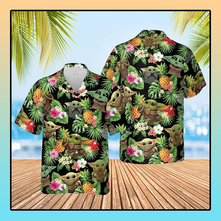 Baby Yoda hawaiian shirt and short1 1