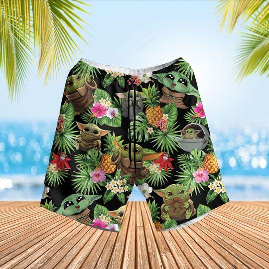 Baby Yoda hawaiian shirt and short3 1