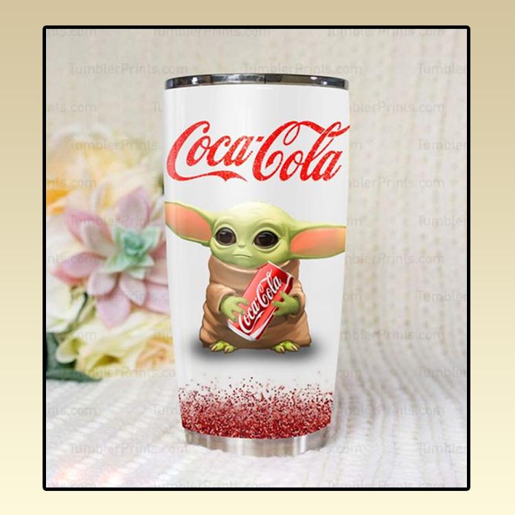 Baby yoda coca cola tumbler3