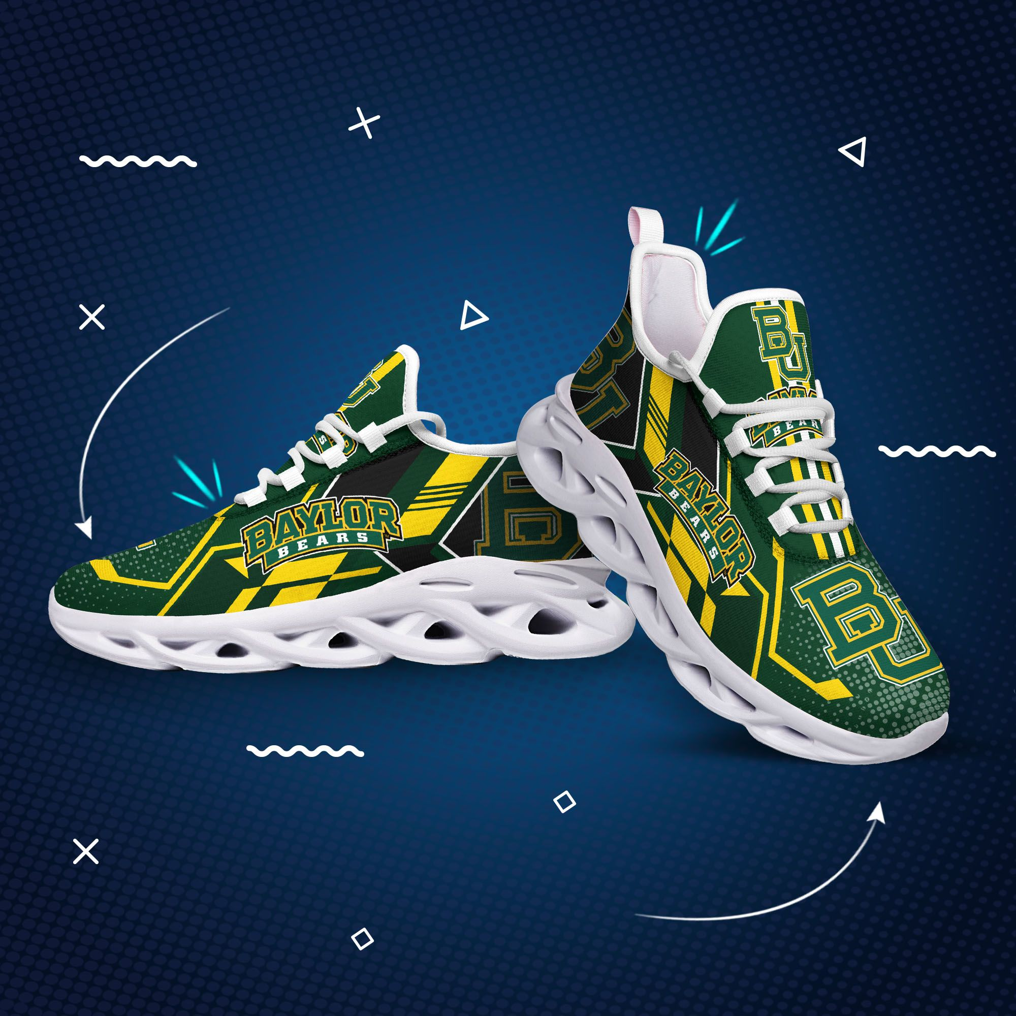 Baylor bears max soul clunky shoes1