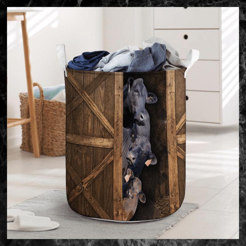 Brangus cattle laundry basket 1