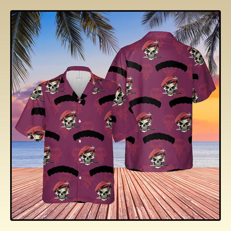 British Army Parachute Red Devils Hawaiian Shirt3