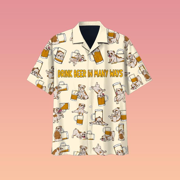 Bulldog beer hawaiian shirt3