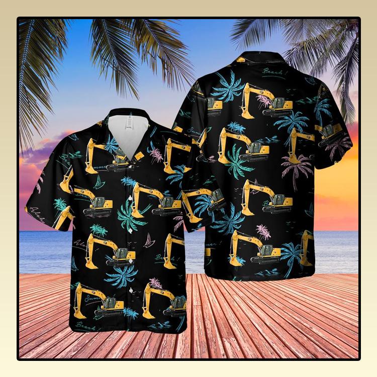 CAT 320 Excavator Hawaiian Shirt1 1