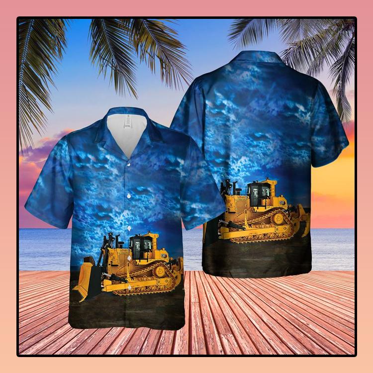 CAT D9 Dozer Hawaiian Shirt2