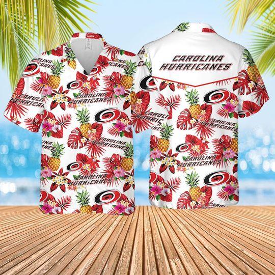 Carolina hurricanes Hawaiian Shirt and short