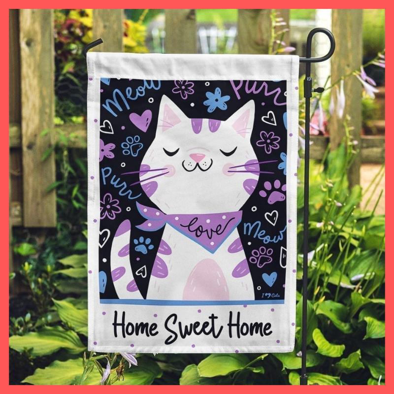 Cat love home sweet home flag 2