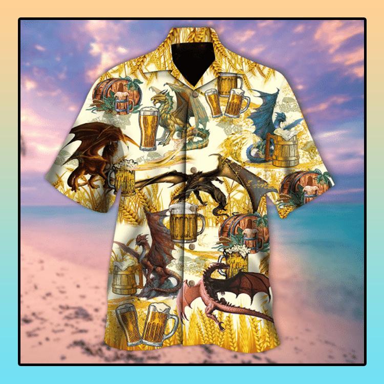 Dragons drinking beer hawaiian shirt4