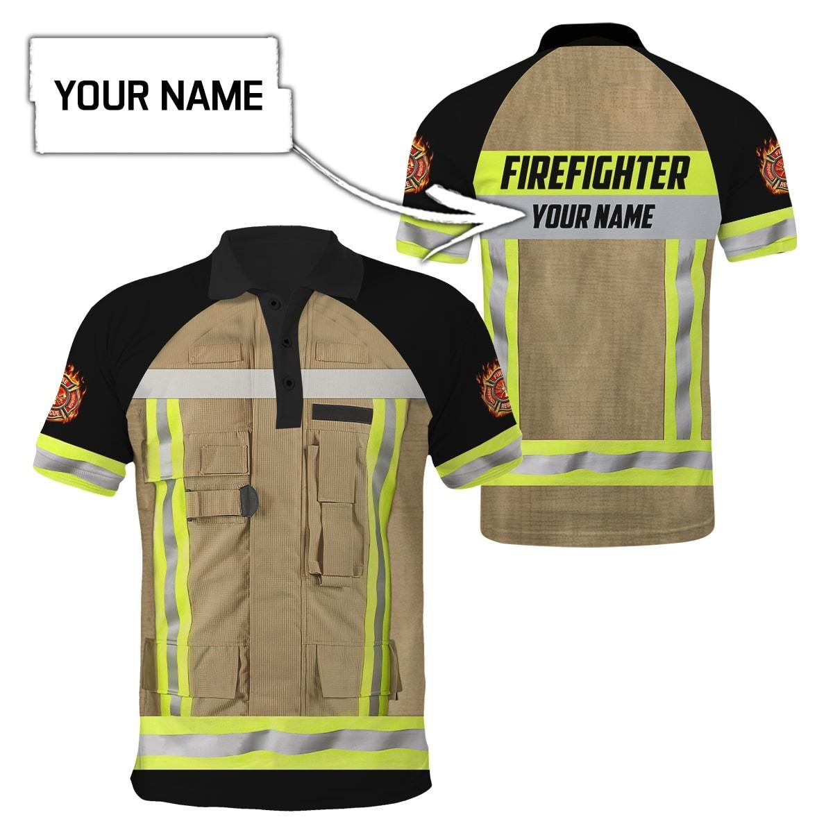 Fire honor rescue courage firefighter custom name hoodie and shirt 1