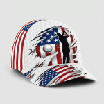 Golfer American flag cap