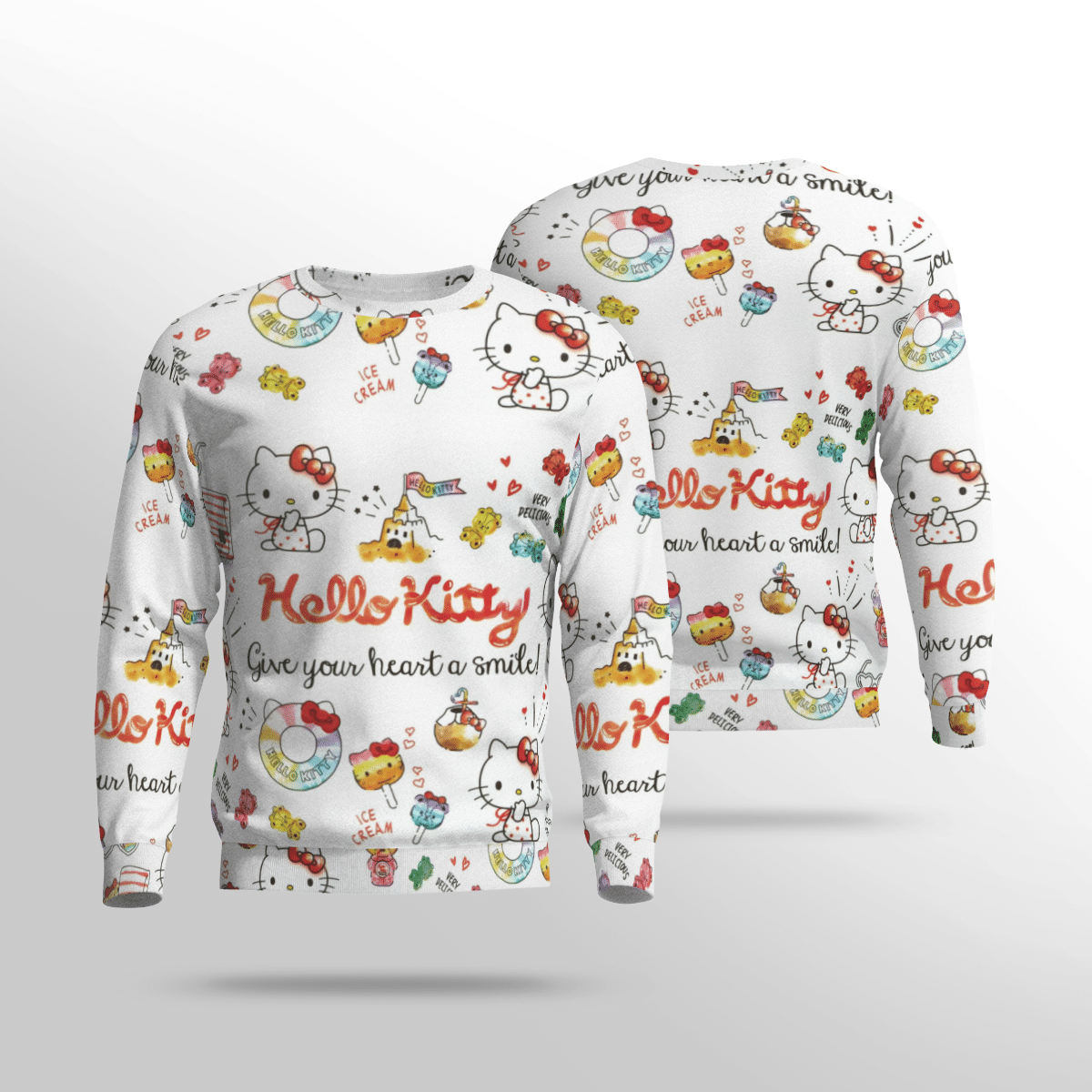 Hello Kitty Cat Give your heart a smile 3d Hoodie1