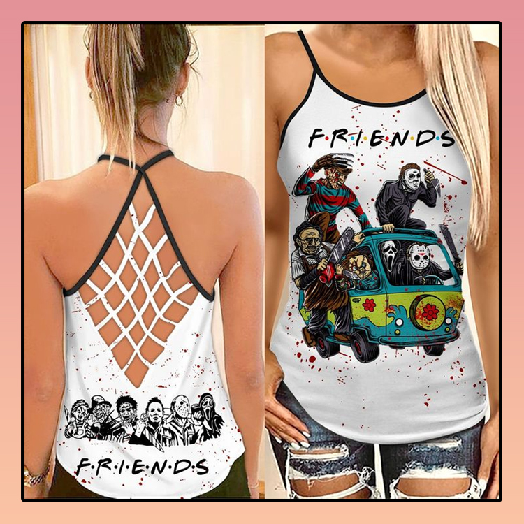 Horror Characters friends TV criss cross strappy tank top1
