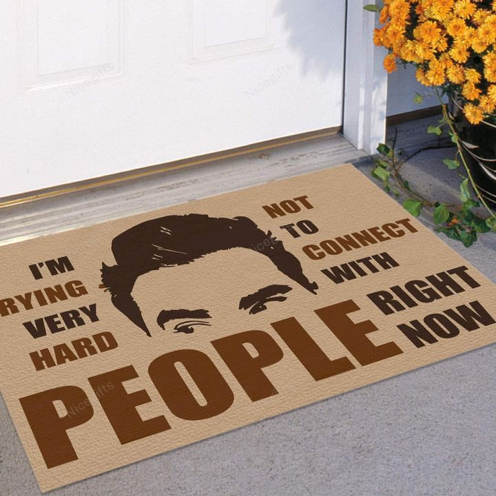 Im Trying Very Hard Not To Connect With People Right Now Doormat 2