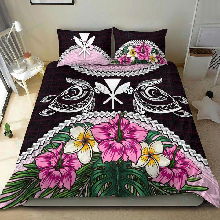 Kanaka Maoli Polynesian turtle hibiscus bedding set 2