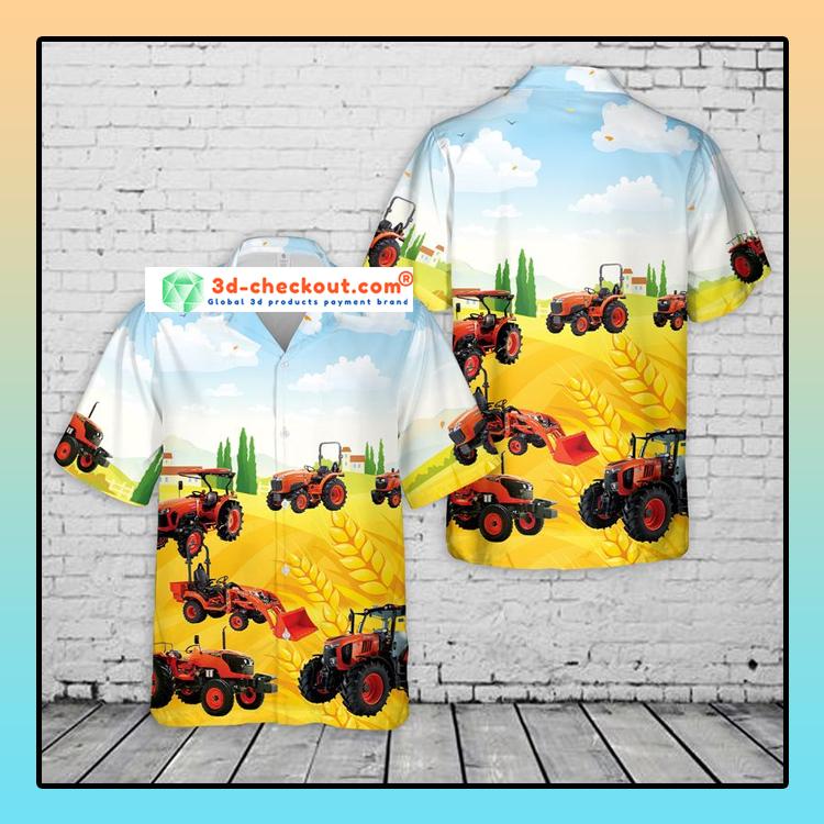Kubota Tractor Hawaiian Shirt4