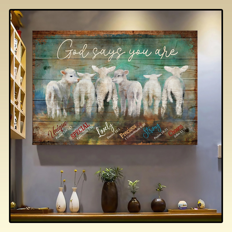 Lambs God says you are Jesus Landscape Canvas Print Wall Art2