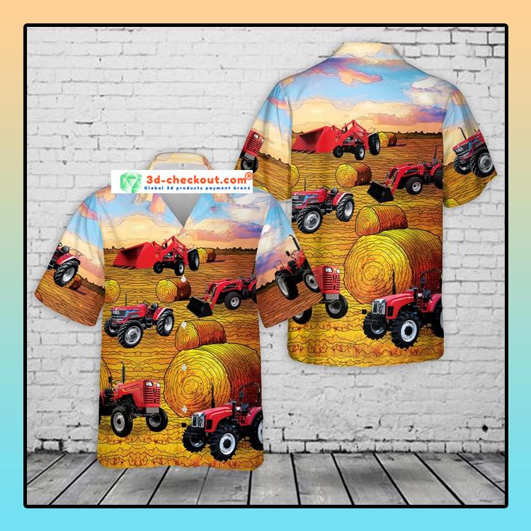 Mahindra Tractors USA Hawaiian Shirt2