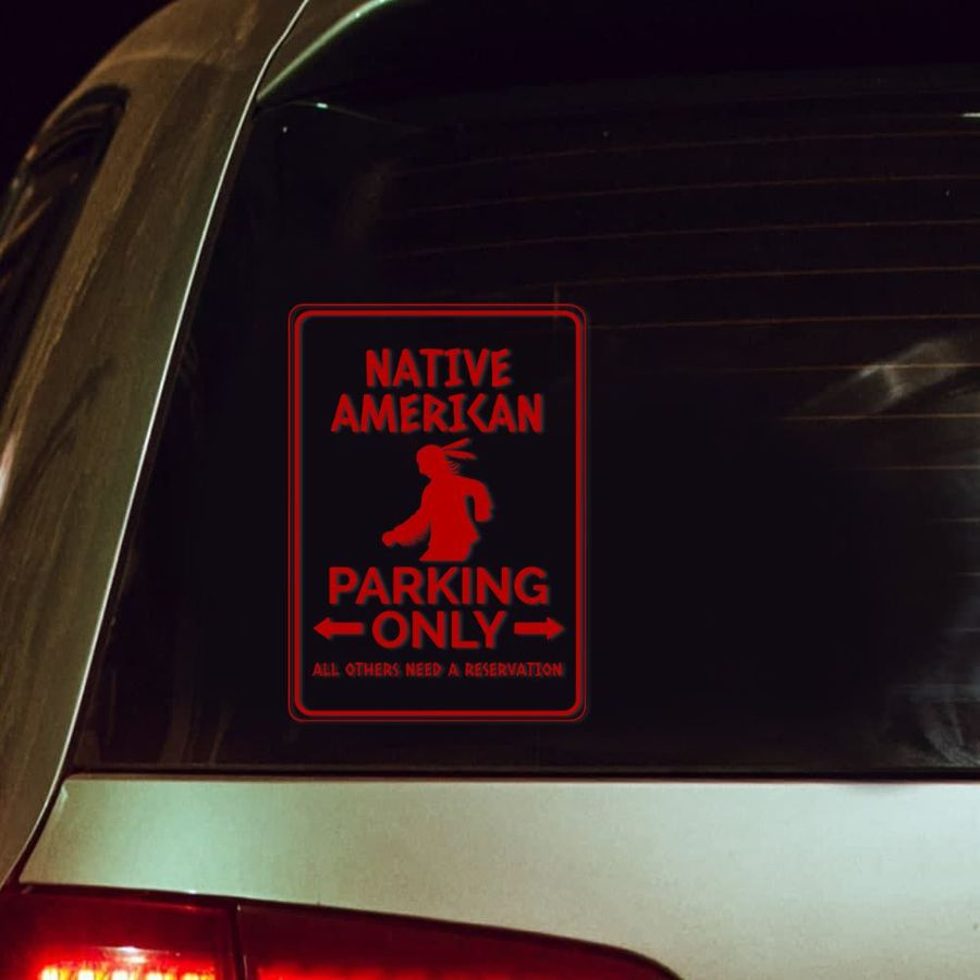 Native American park only decal 1