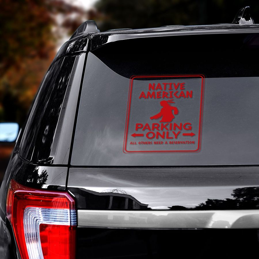 Native American park only decal